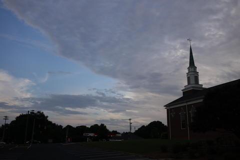 Church at dawn