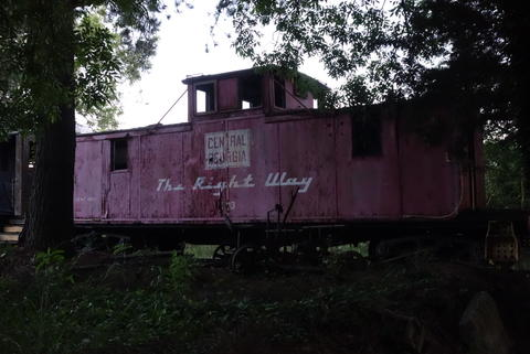 A dying caboose.
