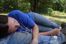 Helen taking a nap.