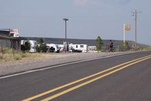 RVs parked at Wagontire
