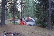 Tent camping near Lassen