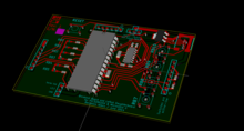 3d view of the PCB