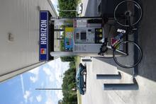 Fueling up the bike